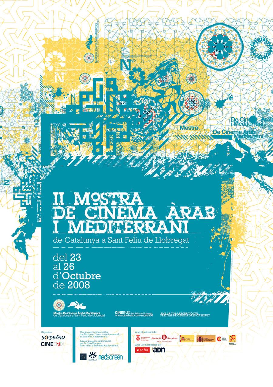 Cartell II Mostra de Cinema Àrab i Mediterrani de Catalunya a Sant Feliu de Llobregat 2008
