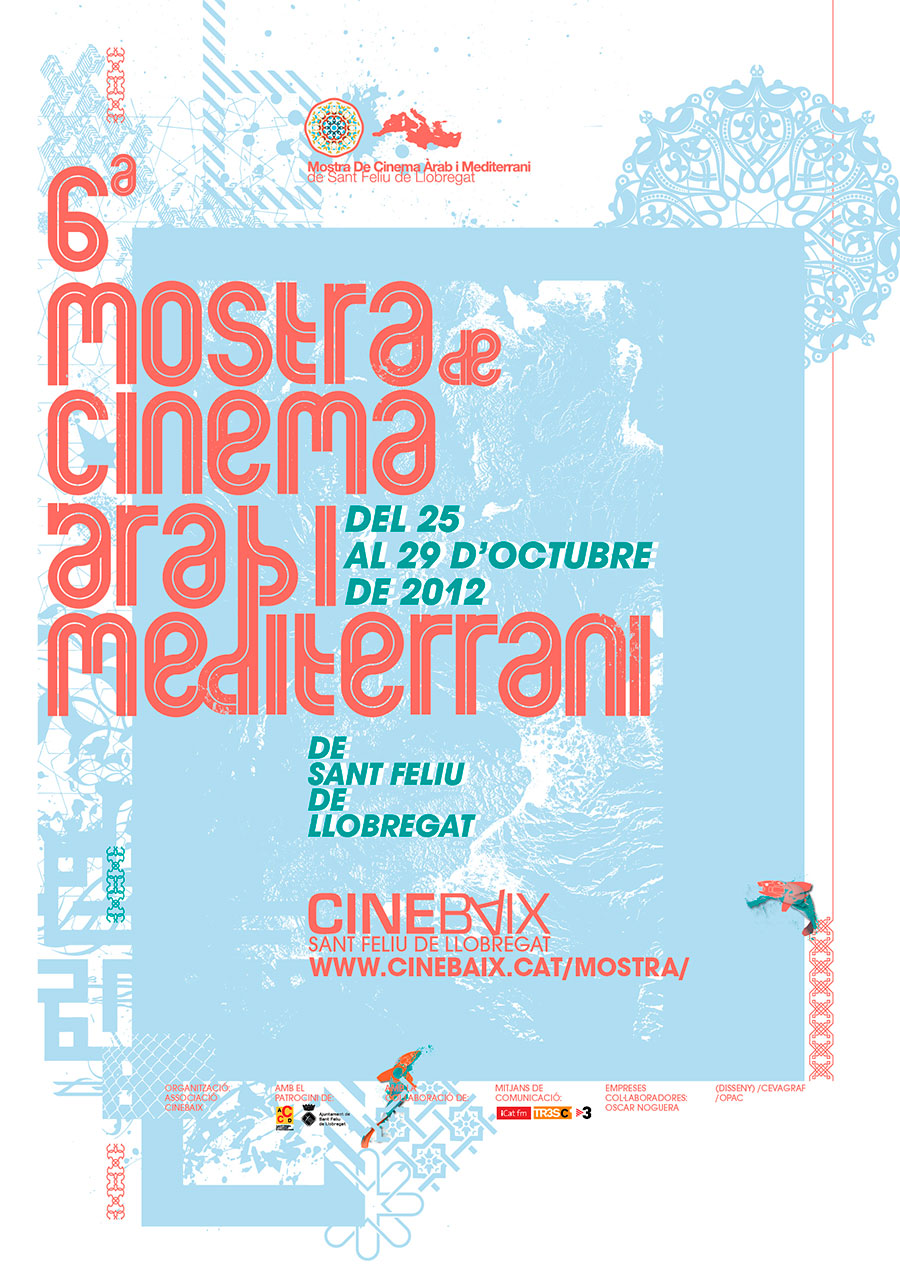 Cartell VI Mostra de Cinema Àrab i Mediterrani de Sant Feliu de Llobregat 2012